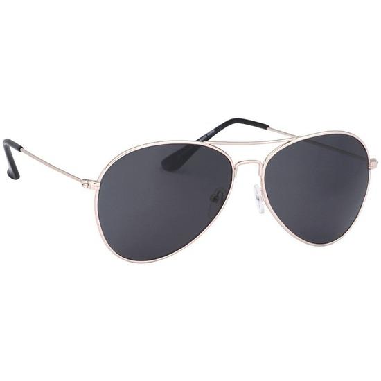 Aviator zonnebril licht goud met donkere glazen voor volwassenen 6ef984a04fe9