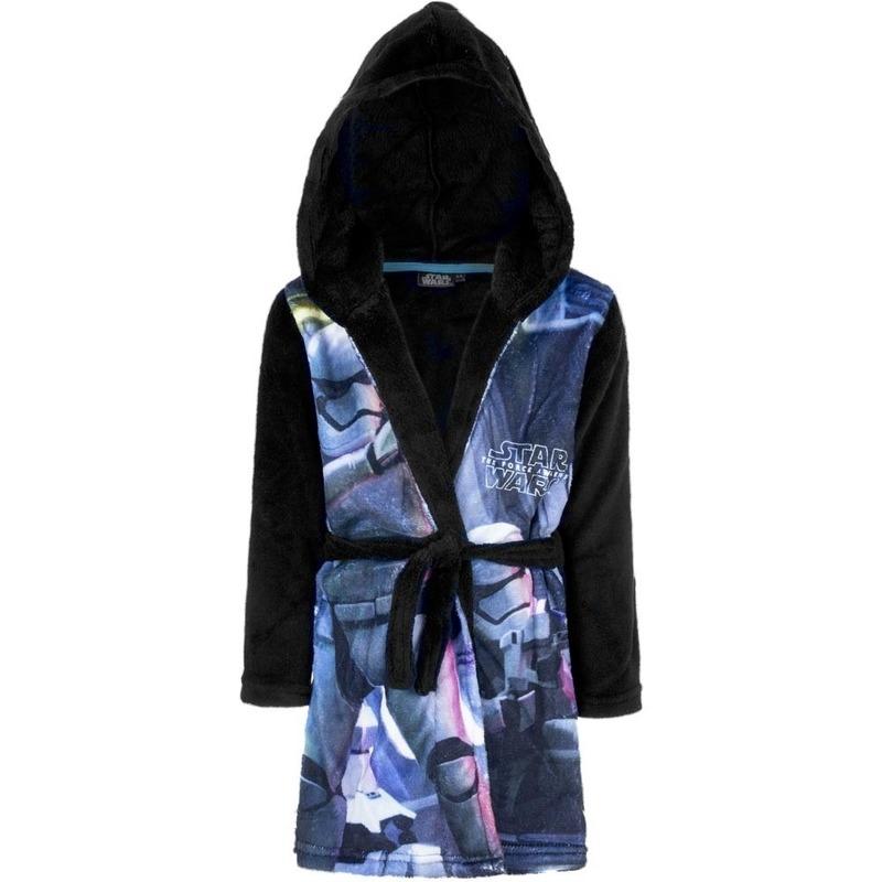 01624e8b6ef Bestel Blauw/zwarte Star Wars badjas met capuchon voor jongens in de ...