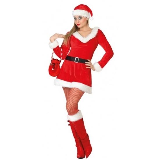 44775dd92cd50c Bestel Dames kerstjurkje met V-hals in de winter winkel