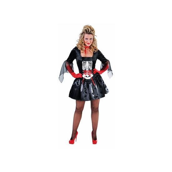 34af65c9e78024 Bestel Halloween - Dames skelet jurk in de winter winkel