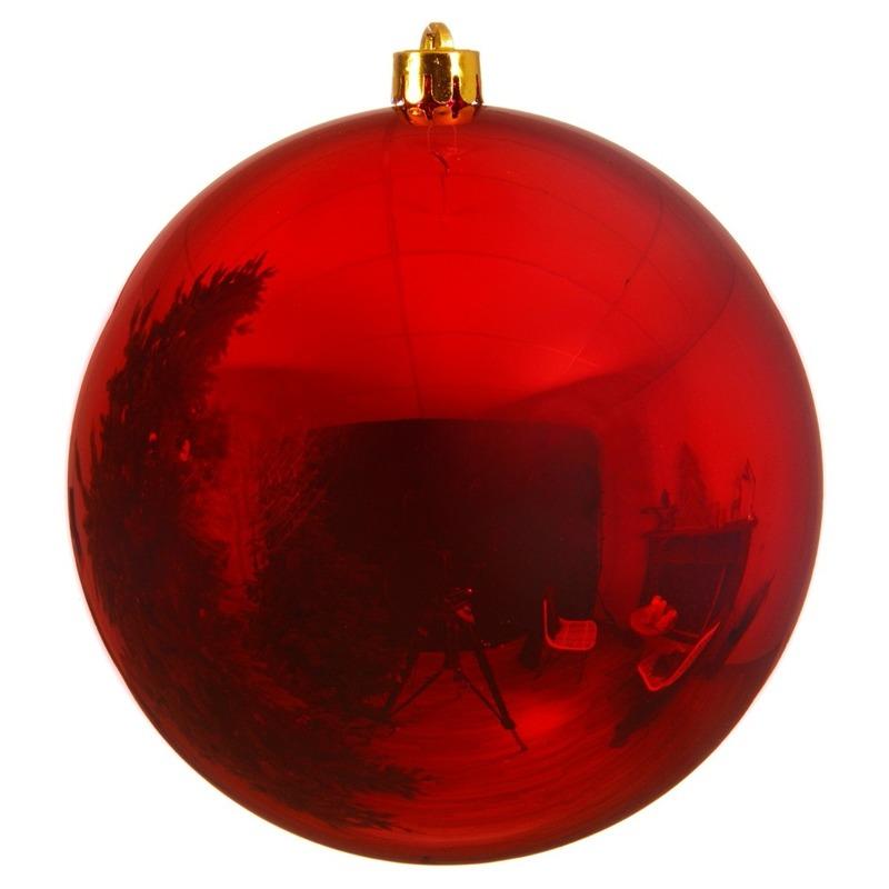 Bestel Grote Raam Deur Decoratie Rode Kerstbal Van 14 Cm In De