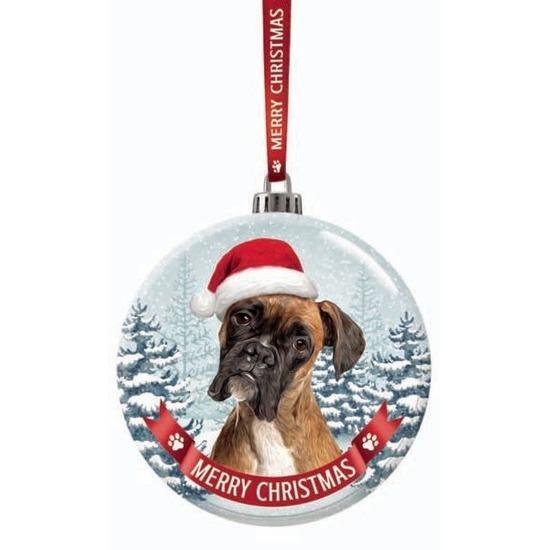 168366c7b979b3 Bestel Kerstversiering glazen kerstbal Boxer hond 7 cm in de winter ...