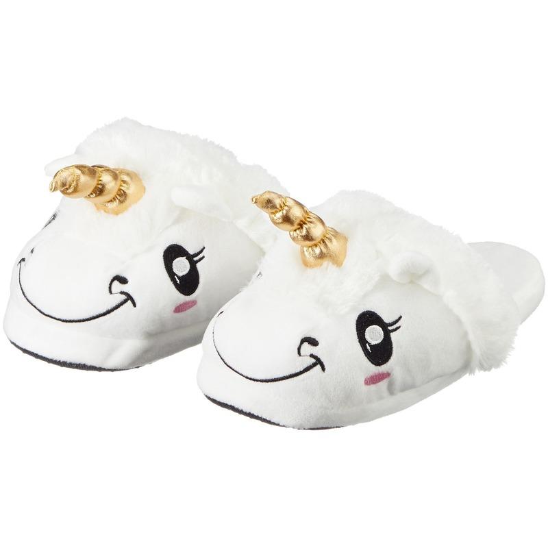 5f2a580508b Bestel Kinder dieren pantoffels/sloffen eenhoorn slippers in de ...