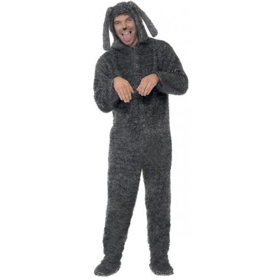 f06502e0416 Bestel Onesie grijze hond voor volwassenen in de winter winkel