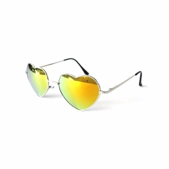 097f3572c267cf Bestel Retro zonnebril hartvorm gouden spiegel glazen in de winter ...