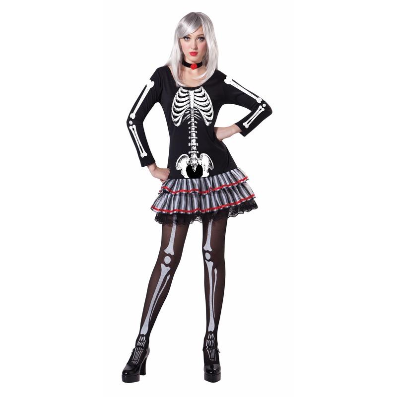 9609478df5f27e Bestel Halloween - Skelet verkleed kostuum voor dames in de winter ...