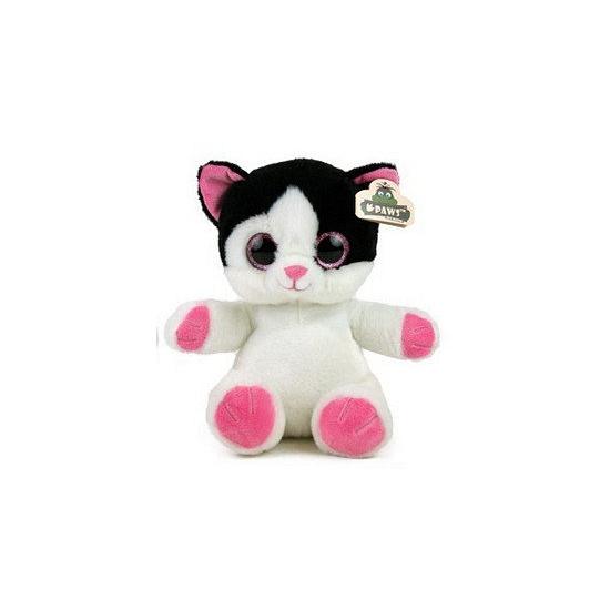 1d4e7e5e08f3f5 Bestel Wit met zwarte kat knuffel 23 cm in de winter winkel
