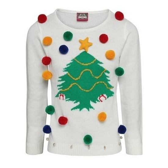 Witte Kersttrui.Bestel Witte Kerst Trui 3d Kerstboom Voor Dames In De Winter Winkel