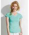 Dames t-shirt  V-hals mint groen