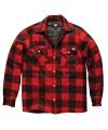 Gewatteerde houthakkers jas rood/zwart