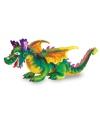 Grote draak knuffel gekleurd 84 cm