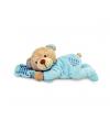 Keel Toys pluche blauwe beer knuffel met kussen 15 cm