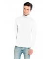 Luxe col t-shirt wit voor heren