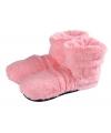 Magnetron warmte sloffen roze pluche voor dames