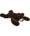 Mega pluche knuffelbeer donkerbruin 120 cm