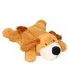 Pluche kruik bruine hond