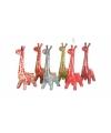Spaarpot giraffe 28 cm rood